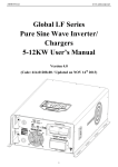 Chargers 5-12KW User`s Manual