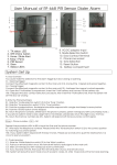 User Manual of RF-668 PIR Sensor Dialer Alarm Setting