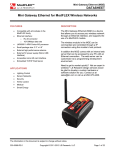 DATASHEET Mini Gateway Ethernet for ModFLEX