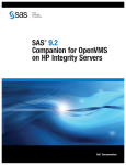 SAS 9.2 Companion for OpenVMS on HP Integrity Servers