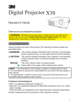 Digital Projector X30