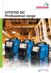citotig dc - Oerlikon, the expert for industrial welding and cutting