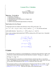 Lesson Five. Calculus - Department of Mathematics