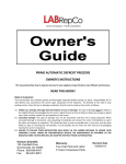 LabRepCo PRIME Auto Defrost Freezers User Manual