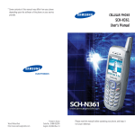 SCH-N361 User`s Manual