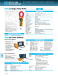 Fluke Leakage Clamp Meter Hioki AC Power Monitors