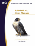 RAPTOR User Manual 4.1