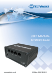 Teltonika RUT950 4G Router - Manual