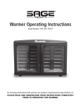 Warmer Operating Instructions