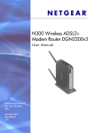N300 Wireless ADSL2+ Modem Router DGN2200