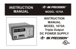 Instruction Manual For Model 1670A Triple Output DC POWER