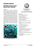 NCV890104 Evaluation Board User`s Manual