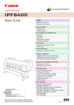 Canon iPF8400 Users Guide, Basic