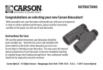 Congratulations on selecting your new Carson binoculars