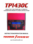 TP1430C Charger Manual