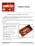 OWNER`S MANUAL - Molten Voltage