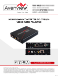 HDMI DOWN CONVERTER TO CVBS/S- VIDEO WITH