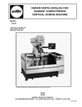 repair parts catalog for sunnen® computerized vertical honing