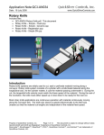 Application Note:QCI-AN034 QuickSilver Controls, Inc. Rotary Knife