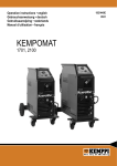 Kempomat 1701,2100 User Manual - Rapid Welding and Industrial