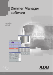 Dimmer Manager software - ADB Lighting Technologies