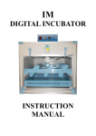 IM Digital Incubator User Manual