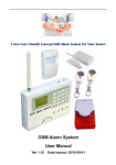 GSM Alarm System User Manual