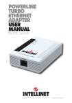 powerline turbo ethernet adapter user manual