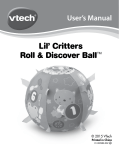 166100 Lil` Critters Roll & Discover Ball Manual