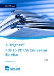 3-Heights™ PDF to PDF/A Converter Service, User Manual