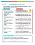 VR4-UWM Deployment Checklist