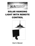 SOLAR HANGING LIGHT WITH REMOTE CONTROL