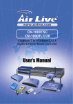 AirLive OV-1000TSC, OV-1000TLC/20 User`s Manual