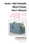 Series 1400 Pulsatile Blood Pumps User`s Manual