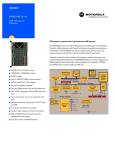 Emerson Network Power / Motorola MVME2600 Datasheet