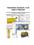HydroGeo Analyst v.4.0 User`s Manual
