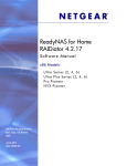 ReadyNAS for Home RAIDiator 4.2.17 Software Manual