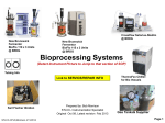 Bioprocessing: Fermentors(New Brunswick), Description