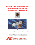 Dcell & DSC version 2 Manual - Load and Force Cells, Indicators