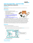 Quick Start Guide (QSG) – Serial Port Profile