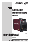 211i Operating Manual FabricatOr®