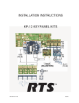 KP-12 Keypanel Kits Installation Instructions