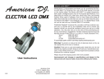 Electra LED DMX Manual