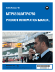 MTP6550/MTP6750 Product Information Manual
