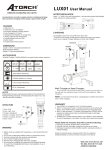 LUX01 User Manual