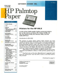 Printers for the HP 95LX