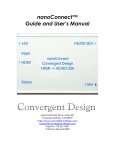 nanoConnect Manual - Convergent Design