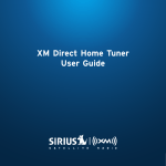 XM Direct Home Tuner User Guide