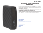 Touchstone CM820 Cable Modem User`s Guide