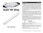 ELED TW Strip User Manual
